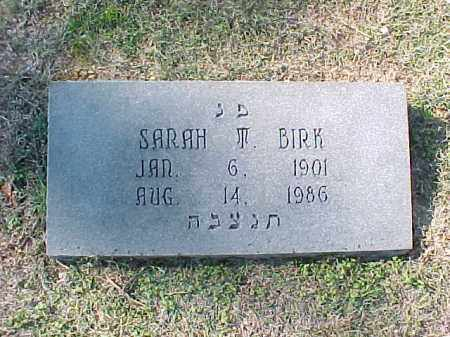 BIRK, SARAH M - Pulaski County, Arkansas | SARAH M BIRK - Arkansas Gravestone Photos