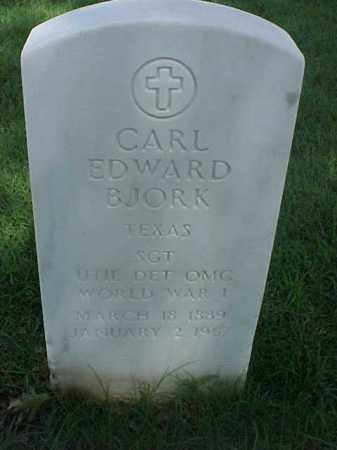 BJORK (VETERAN WWI), CARL EDWARD - Pulaski County, Arkansas | CARL EDWARD BJORK (VETERAN WWI) - Arkansas Gravestone Photos