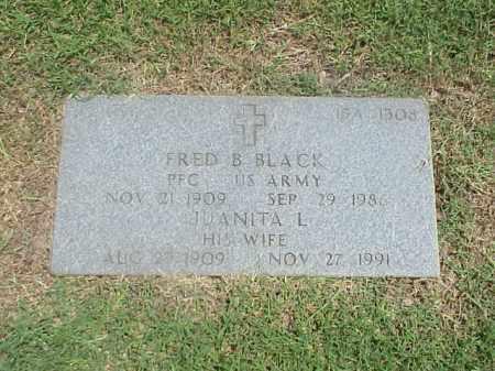 BLACK (VETERAN), FRED B - Pulaski County, Arkansas | FRED B BLACK (VETERAN) - Arkansas Gravestone Photos