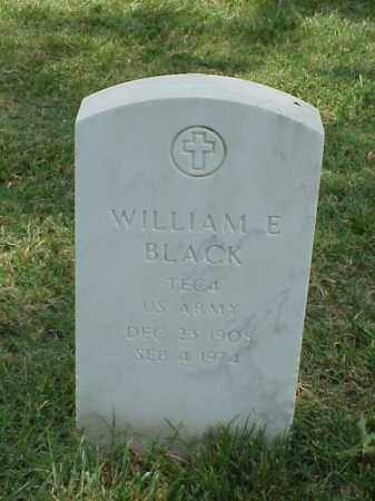 BLACK (VETERAN), WILLIAM E - Pulaski County, Arkansas | WILLIAM E BLACK (VETERAN) - Arkansas Gravestone Photos