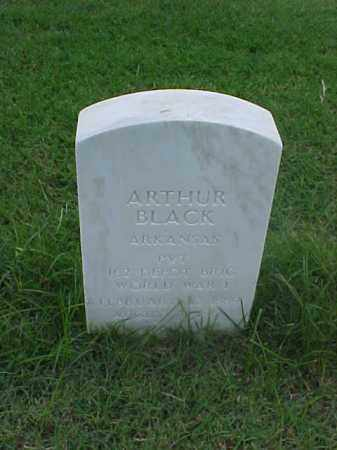 BLACK (VETERAN WWI), ARTHUR - Pulaski County, Arkansas | ARTHUR BLACK (VETERAN WWI) - Arkansas Gravestone Photos