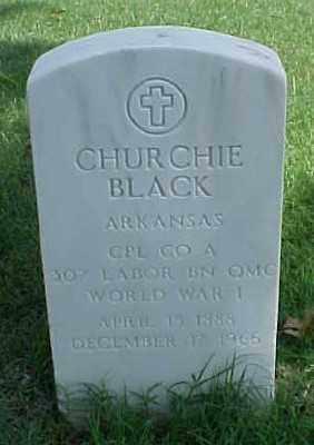 BLACK (VETERAN WWI), CHURCHIE - Pulaski County, Arkansas | CHURCHIE BLACK (VETERAN WWI) - Arkansas Gravestone Photos