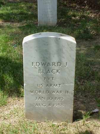 BLACK (VETERAN WWII), EDWARD J - Pulaski County, Arkansas | EDWARD J BLACK (VETERAN WWII) - Arkansas Gravestone Photos