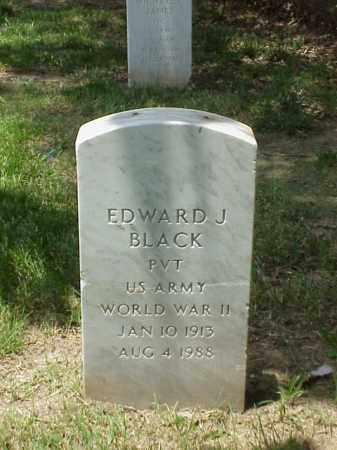 BLACK (VETERAN WWII), EDWARD J - Pulaski County, Arkansas   EDWARD J BLACK (VETERAN WWII) - Arkansas Gravestone Photos