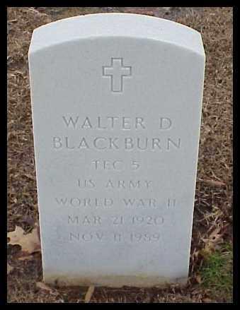 BLACKBURN (VETERAN WWII), WALTER D - Pulaski County, Arkansas | WALTER D BLACKBURN (VETERAN WWII) - Arkansas Gravestone Photos