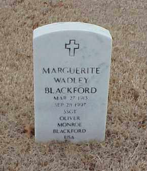 WADLEY BLACKFORD, MARGUERITE - Pulaski County, Arkansas | MARGUERITE WADLEY BLACKFORD - Arkansas Gravestone Photos