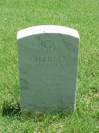 BLACKMAN (VETERAN WWII), CHARLES - Pulaski County, Arkansas | CHARLES BLACKMAN (VETERAN WWII) - Arkansas Gravestone Photos