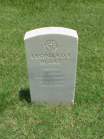 BLAKE (VETERAN WWI), LEONARD E - Pulaski County, Arkansas | LEONARD E BLAKE (VETERAN WWI) - Arkansas Gravestone Photos