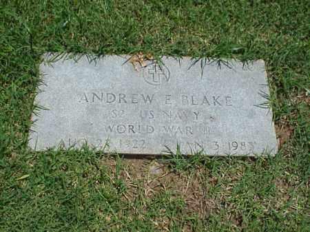 BLAKE (VETERAN WWII), ANDREW E - Pulaski County, Arkansas | ANDREW E BLAKE (VETERAN WWII) - Arkansas Gravestone Photos