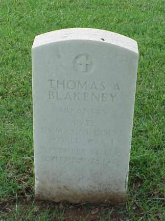 BLAKENEY (VETERAN WWI), THOMAS A - Pulaski County, Arkansas | THOMAS A BLAKENEY (VETERAN WWI) - Arkansas Gravestone Photos