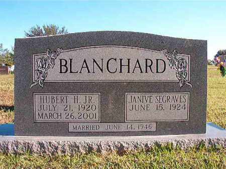 BLANCHARD, JR, HUBERT H - Pulaski County, Arkansas | HUBERT H BLANCHARD, JR - Arkansas Gravestone Photos