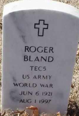 BLAND  (VETERAN WWII), ROGER - Pulaski County, Arkansas | ROGER BLAND  (VETERAN WWII) - Arkansas Gravestone Photos