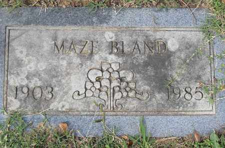 BLAND, MAZE - Pulaski County, Arkansas | MAZE BLAND - Arkansas Gravestone Photos