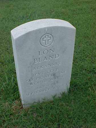 BLAND (VETERAN WWI), LON - Pulaski County, Arkansas | LON BLAND (VETERAN WWI) - Arkansas Gravestone Photos