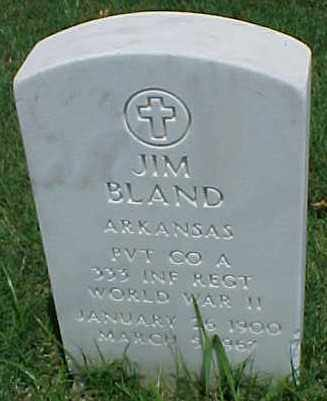 BLAND (VETERAN WWII), JIM - Pulaski County, Arkansas | JIM BLAND (VETERAN WWII) - Arkansas Gravestone Photos