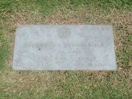 BLANKENSHIP (VETERAN 2 WARS), TALMADGE L - Pulaski County, Arkansas | TALMADGE L BLANKENSHIP (VETERAN 2 WARS) - Arkansas Gravestone Photos