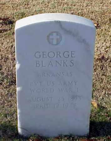 BLANKS (VETERAN WWI), GEORGE - Pulaski County, Arkansas | GEORGE BLANKS (VETERAN WWI) - Arkansas Gravestone Photos