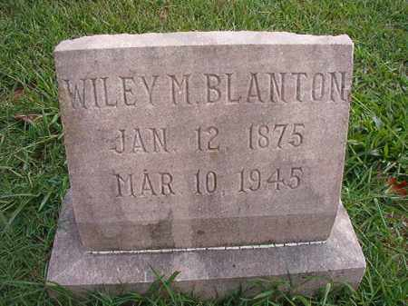 BLANTON, WILEY M - Pulaski County, Arkansas | WILEY M BLANTON - Arkansas Gravestone Photos