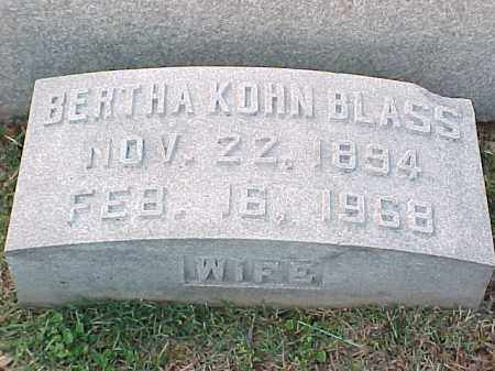 KOHN BLASS, BERTHA - Pulaski County, Arkansas | BERTHA KOHN BLASS - Arkansas Gravestone Photos