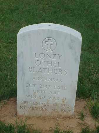 BLATHERS (VETERAN WWII), LONZY OTHEL - Pulaski County, Arkansas   LONZY OTHEL BLATHERS (VETERAN WWII) - Arkansas Gravestone Photos