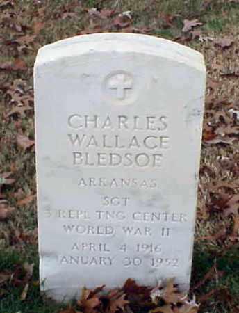 BLEDSOE (VETERAN WWII), CHARLES WALLACE - Pulaski County, Arkansas | CHARLES WALLACE BLEDSOE (VETERAN WWII) - Arkansas Gravestone Photos