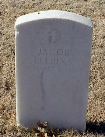 BLERINS (VETERAN UNION), JACOB - Pulaski County, Arkansas   JACOB BLERINS (VETERAN UNION) - Arkansas Gravestone Photos