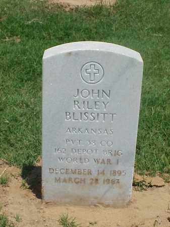 BLISSITT (VETERAN WWI), JOHN RILEY - Pulaski County, Arkansas | JOHN RILEY BLISSITT (VETERAN WWI) - Arkansas Gravestone Photos