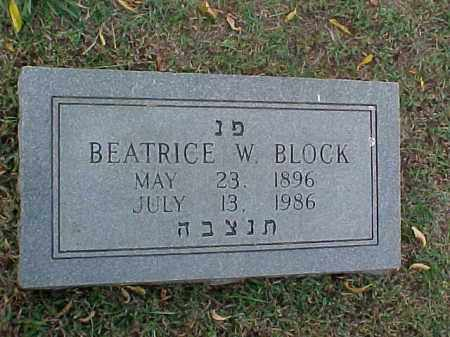 BLOCK, BEATRICE W (2) - Pulaski County, Arkansas | BEATRICE W (2) BLOCK - Arkansas Gravestone Photos