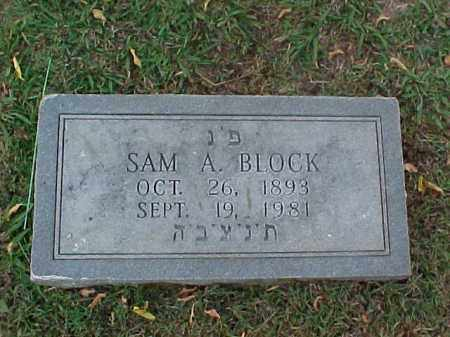 BLOCK, SAM W (2) - Pulaski County, Arkansas | SAM W (2) BLOCK - Arkansas Gravestone Photos