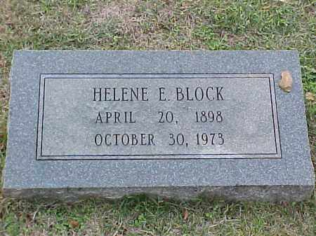 BLOCK, HELENE E - Pulaski County, Arkansas | HELENE E BLOCK - Arkansas Gravestone Photos