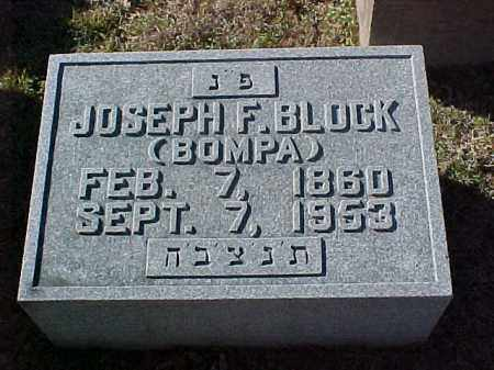 BLOCK, JOSEPH F - Pulaski County, Arkansas | JOSEPH F BLOCK - Arkansas Gravestone Photos