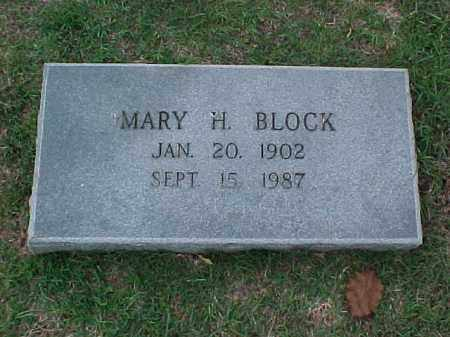 BLOCK, MARY H - Pulaski County, Arkansas | MARY H BLOCK - Arkansas Gravestone Photos