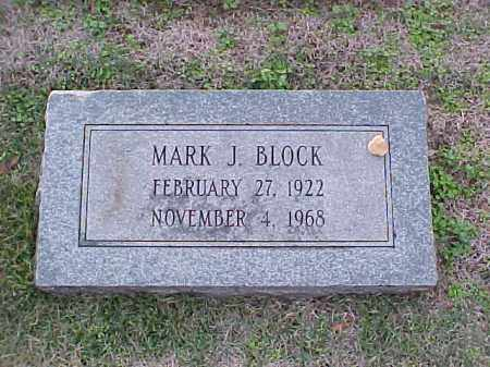 BLOCK, MARK J - Pulaski County, Arkansas | MARK J BLOCK - Arkansas Gravestone Photos