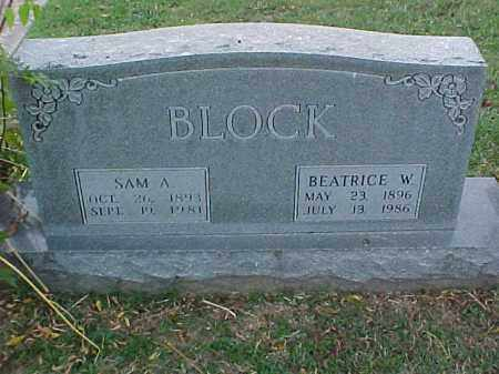 BLOCK, BEATRICE W - Pulaski County, Arkansas | BEATRICE W BLOCK - Arkansas Gravestone Photos