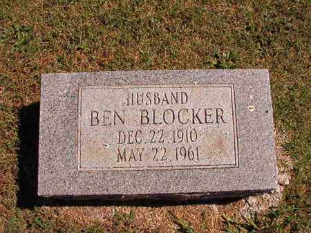 BLOCKER, BEN - Pulaski County, Arkansas | BEN BLOCKER - Arkansas Gravestone Photos