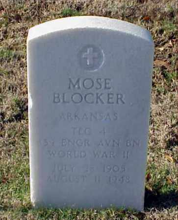 BLOCKER (VETERAN WWII), MOSE - Pulaski County, Arkansas | MOSE BLOCKER (VETERAN WWII) - Arkansas Gravestone Photos