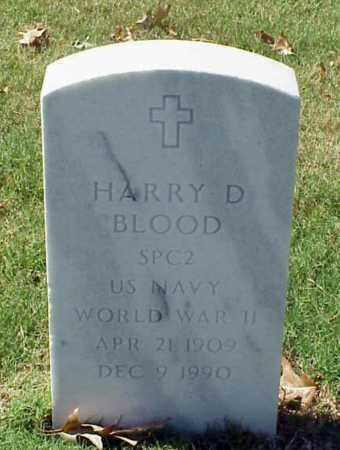 BLOOD (VETERAN WWII), HARRY D - Pulaski County, Arkansas | HARRY D BLOOD (VETERAN WWII) - Arkansas Gravestone Photos
