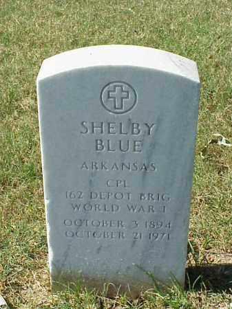 BLUE (VETERAN WWI), SHELBY - Pulaski County, Arkansas | SHELBY BLUE (VETERAN WWI) - Arkansas Gravestone Photos