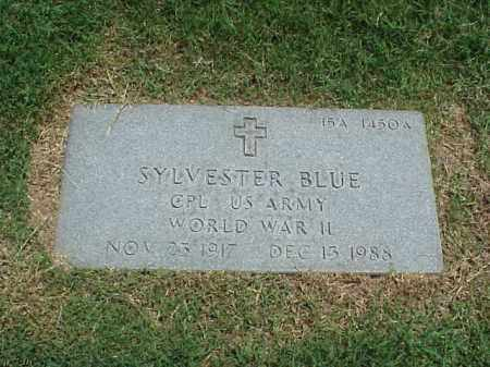 BLUE (VETERAN WWII), SYLVESTER - Pulaski County, Arkansas | SYLVESTER BLUE (VETERAN WWII) - Arkansas Gravestone Photos