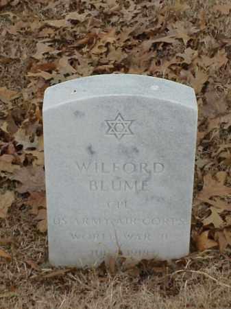 BLUME (VETERAN WWII), WILFORD - Pulaski County, Arkansas | WILFORD BLUME (VETERAN WWII) - Arkansas Gravestone Photos