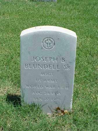 BLUNDELL, SR (VETERAN 2 WARS), JOSEPH B - Pulaski County, Arkansas | JOSEPH B BLUNDELL, SR (VETERAN 2 WARS) - Arkansas Gravestone Photos