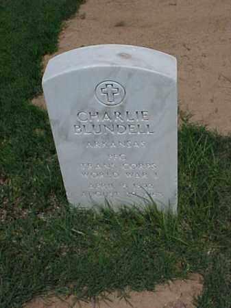 BLUNDELL (VETERAN WWI), CHARLIE - Pulaski County, Arkansas   CHARLIE BLUNDELL (VETERAN WWI) - Arkansas Gravestone Photos