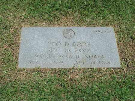 BODE (VETERAN 2 WARS), LEO D - Pulaski County, Arkansas | LEO D BODE (VETERAN 2 WARS) - Arkansas Gravestone Photos