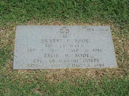 BODE (VETERAN WWII), ELSIE W - Pulaski County, Arkansas | ELSIE W BODE (VETERAN WWII) - Arkansas Gravestone Photos