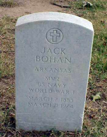 BOHAN (VETERAN WWI), JACK - Pulaski County, Arkansas | JACK BOHAN (VETERAN WWI) - Arkansas Gravestone Photos
