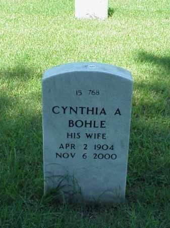 BOHLE, CYNTHIA A - Pulaski County, Arkansas | CYNTHIA A BOHLE - Arkansas Gravestone Photos