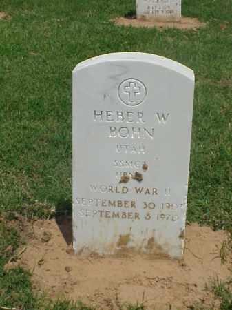 BOHN (VETERAN WWII), HEBER W - Pulaski County, Arkansas | HEBER W BOHN (VETERAN WWII) - Arkansas Gravestone Photos