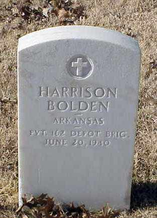 BOLDEN (VETERAN WWI), HARRISON - Pulaski County, Arkansas | HARRISON BOLDEN (VETERAN WWI) - Arkansas Gravestone Photos