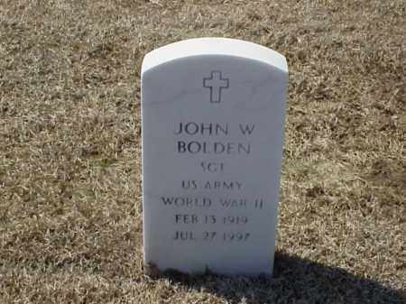 BOLDEN (VETERAN WWII), JOHN W - Pulaski County, Arkansas | JOHN W BOLDEN (VETERAN WWII) - Arkansas Gravestone Photos