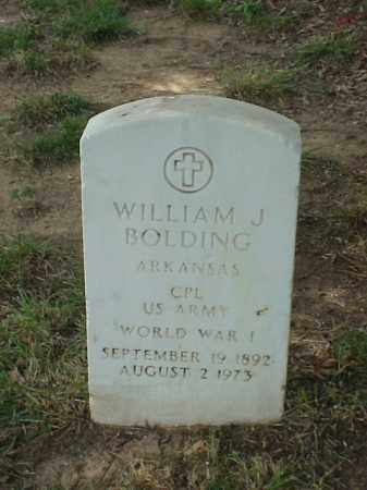 BOLDING (VETERAN WWI), WILLIAM J - Pulaski County, Arkansas | WILLIAM J BOLDING (VETERAN WWI) - Arkansas Gravestone Photos